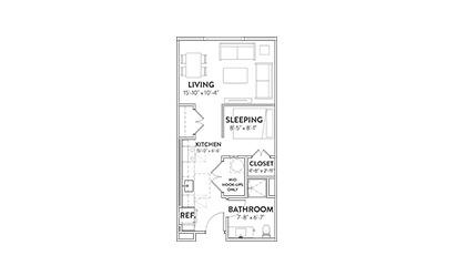 The Nighthawk Studio Floorplan