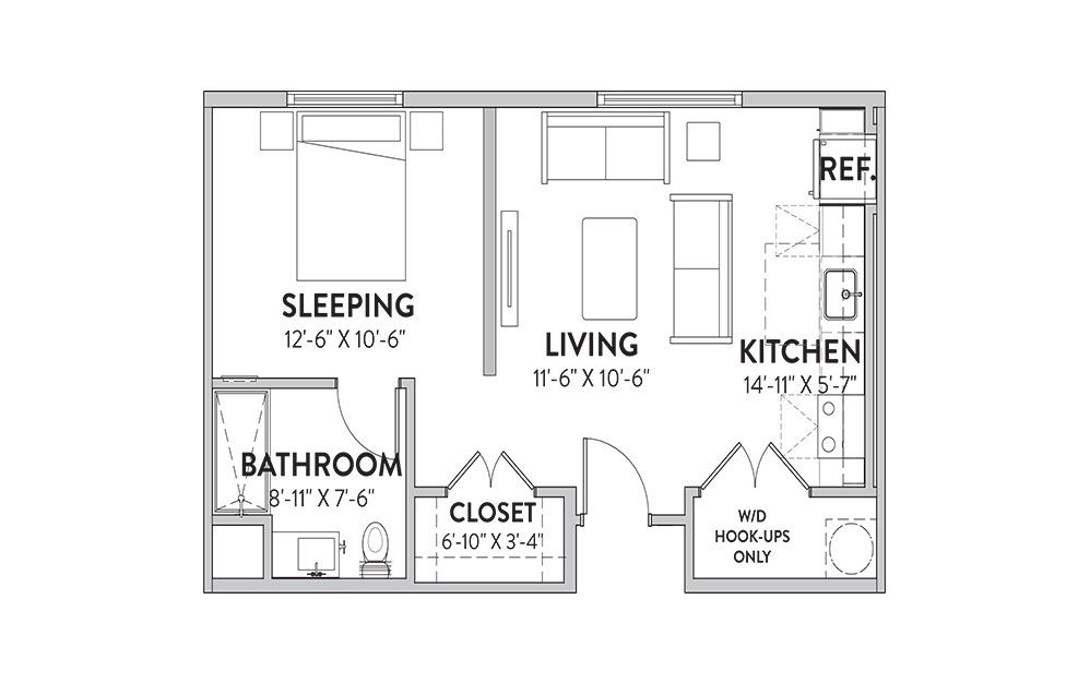 The Armadillo Studio Floorplan